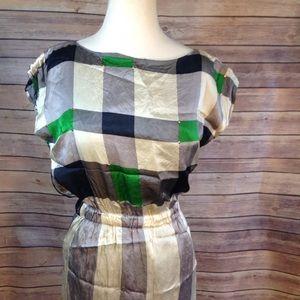 Anthropologie Lauren Moffatt Silk dress size 8